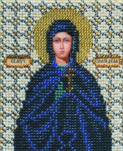 Б-1066 Набор для вышивания бисером 'Чарівна Мить' 'Икона святая мученица Иулия (Юлия)', 11*9 см