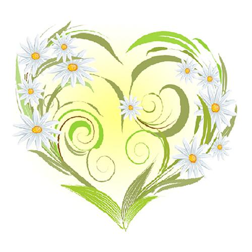 7028 Набор для вышивания лентами 'Матренин Посад' 'Ромашки-сердце', 15*14 см
