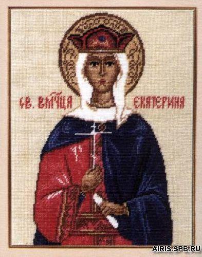669 Набор для вышивания Hobby&Pro 'Св. Великомученица Екатерина', 22*17 см