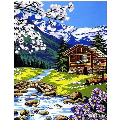 MRC1333-411 Канва с рисунком MARGOT 'Весна' 50*65 см