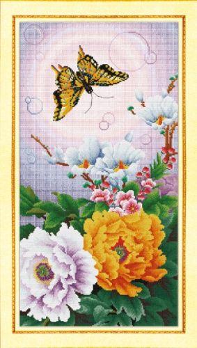 S-016 Набор для вышивания Hobby&Pro 'Махаон', 27*53 см