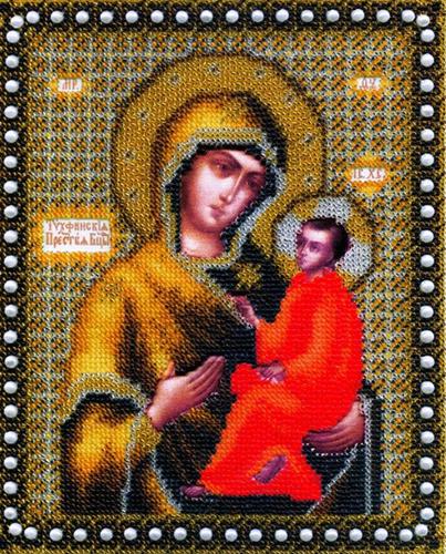 Б-1079 Набор для вышивания бисером 'Чарівна Мить' 'Икона Божьей Матери Тихвинская', 21,6*17,6 см