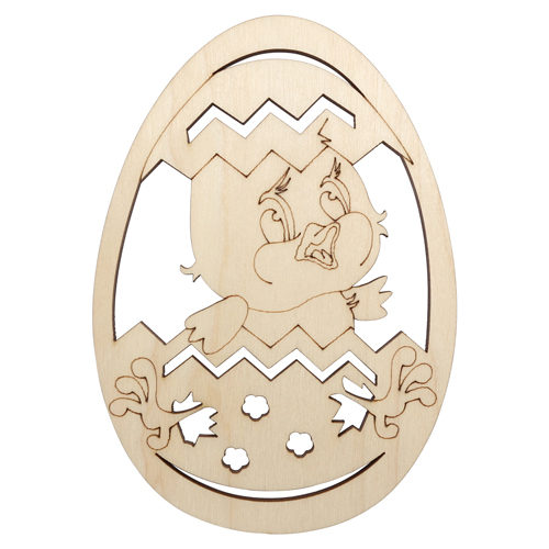 L-1059 Деревянная заготовка яйцо 'Цыпленок' 10,5*15,0см АСТРА