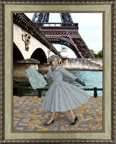 31013 Набор для вышивания Краса и творчество 'Опять в Париже листопад' 30,5*40 см