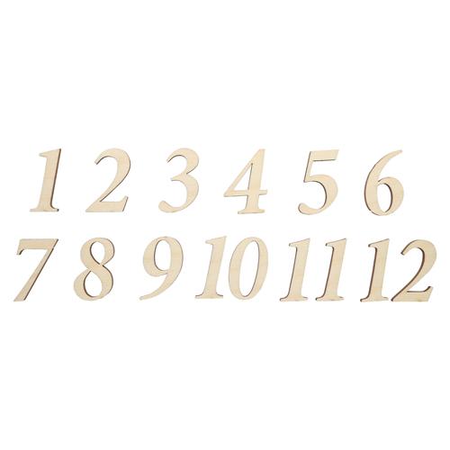 L-1060 Деревянная заготовка Цифры 1-12 ,высота цифры 3см АСТРА