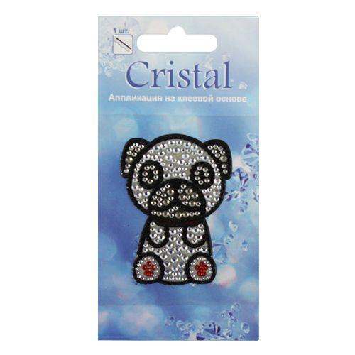 18303 Аппликация на клеевой основе,'Щенок-4',Cristal