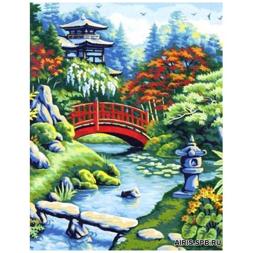 MRC1333-461 Канва с рисунком MARGOT 'Японский мостик' 50*65 см