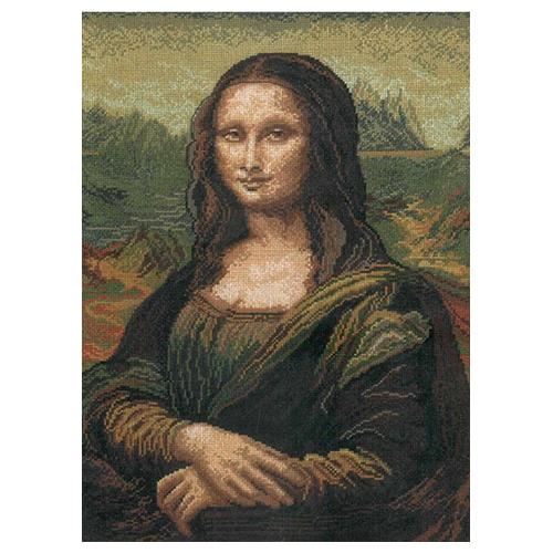 240 Набор для вышивания 'Чарівна Мить' По мотивам Леонардо да Винчи 'Мона Лиза', 30*40 см