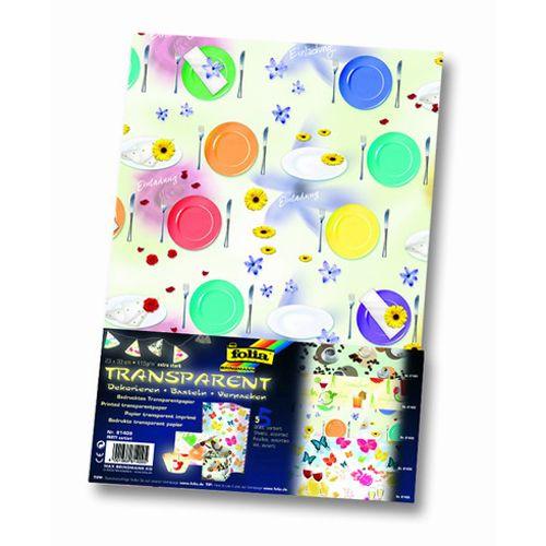81409 Транспарентная бумага 'Вечеринка', 115 г/м?, 23*33 см, упак./5 листов, Folia