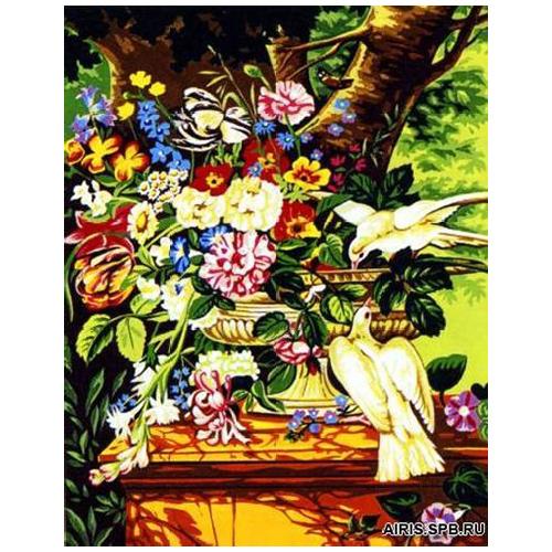 MRC1333-473 Канва с рисунком MARGOT 'Изысканный букет' 50*65 см