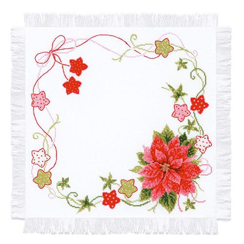1752 Набор для вышивания Риолис 'Салфетка 'Рождественская' 45*45см