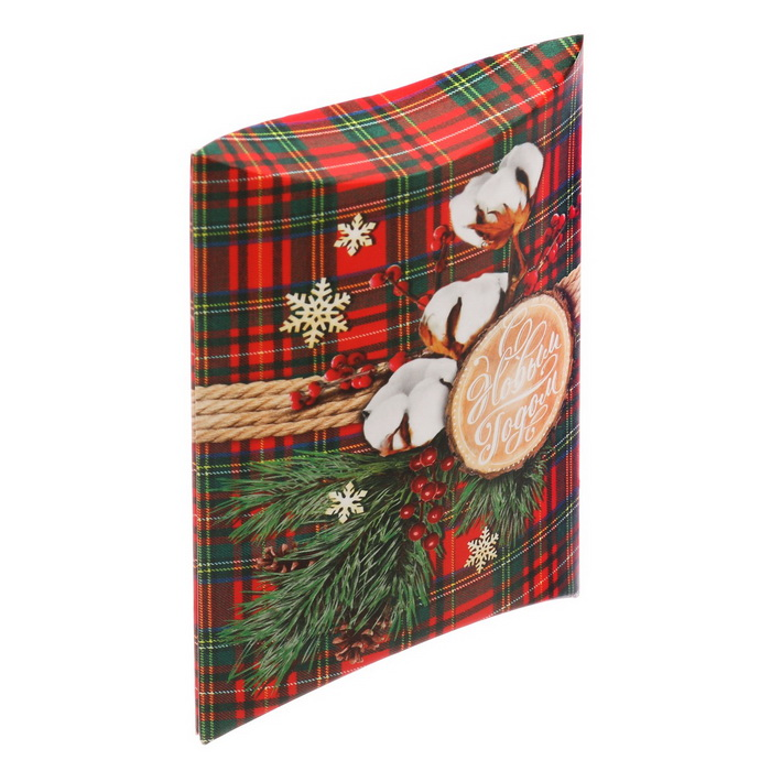 3573407 Коробка сборная фигурная «С Новым годом!», 11 × 8 × 2 см