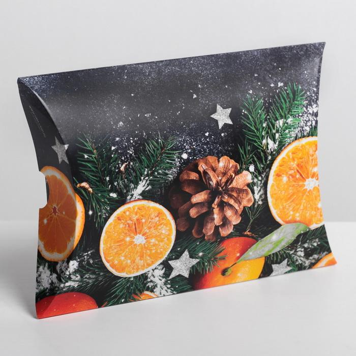 4381657 Коробка сборная фигурная «Мандариновое настроение», 19 × 14 × 4 см