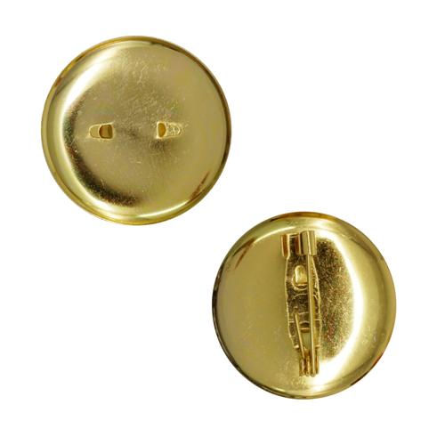 1353644 (СМ-367) Булавка для броши с круглым основанием 25 мм, цвет золото, упак/ 5шт