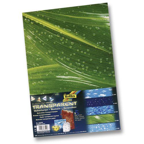 83409 Транспарентная бумага 'Элементы природы', 115 г/м?, 23*33 см, упак./5 листов, Folia
