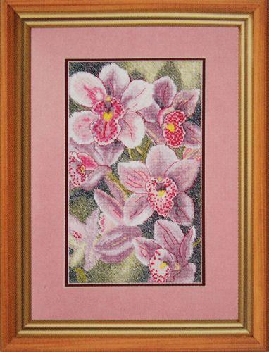 781 Набор для вышивания Hobby&Pro 'Любимые орхидеи', 16*27 см