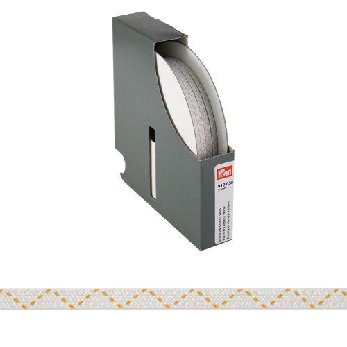 910050 Стандартная эластичная лента плетеная 5 мм белый цв. *50м. Prym