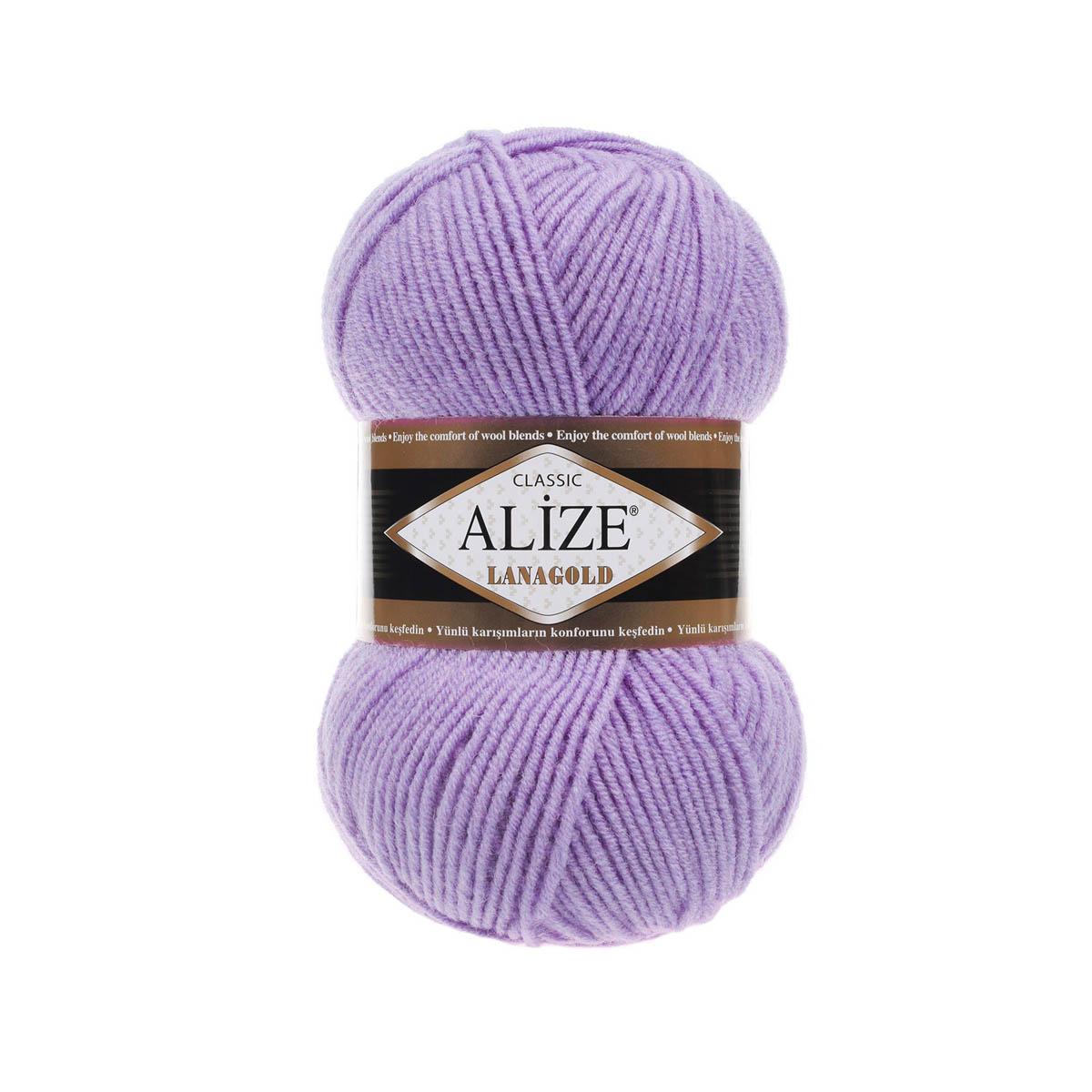 Пряжа ALIZE 'Lanagold' 100гр., 240м (49%шерсть, 51%акрил)