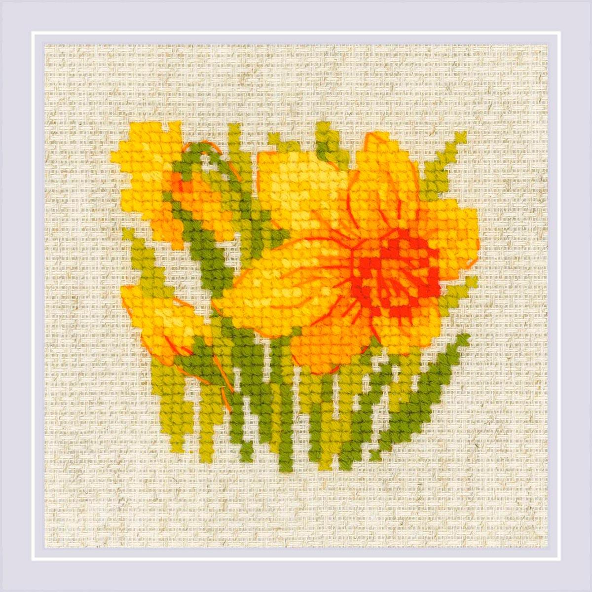 1841 Набор для вышивания Риолис 'Нарцисс'13*13см