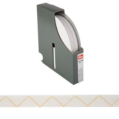 911425 Стандартная эластичная лента плетеная 12 мм белый цв. *25м. Prym