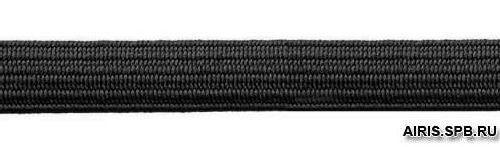 Тесьма эластичная, 7 мм (10м*10), (продежка) черная (С1121/1)