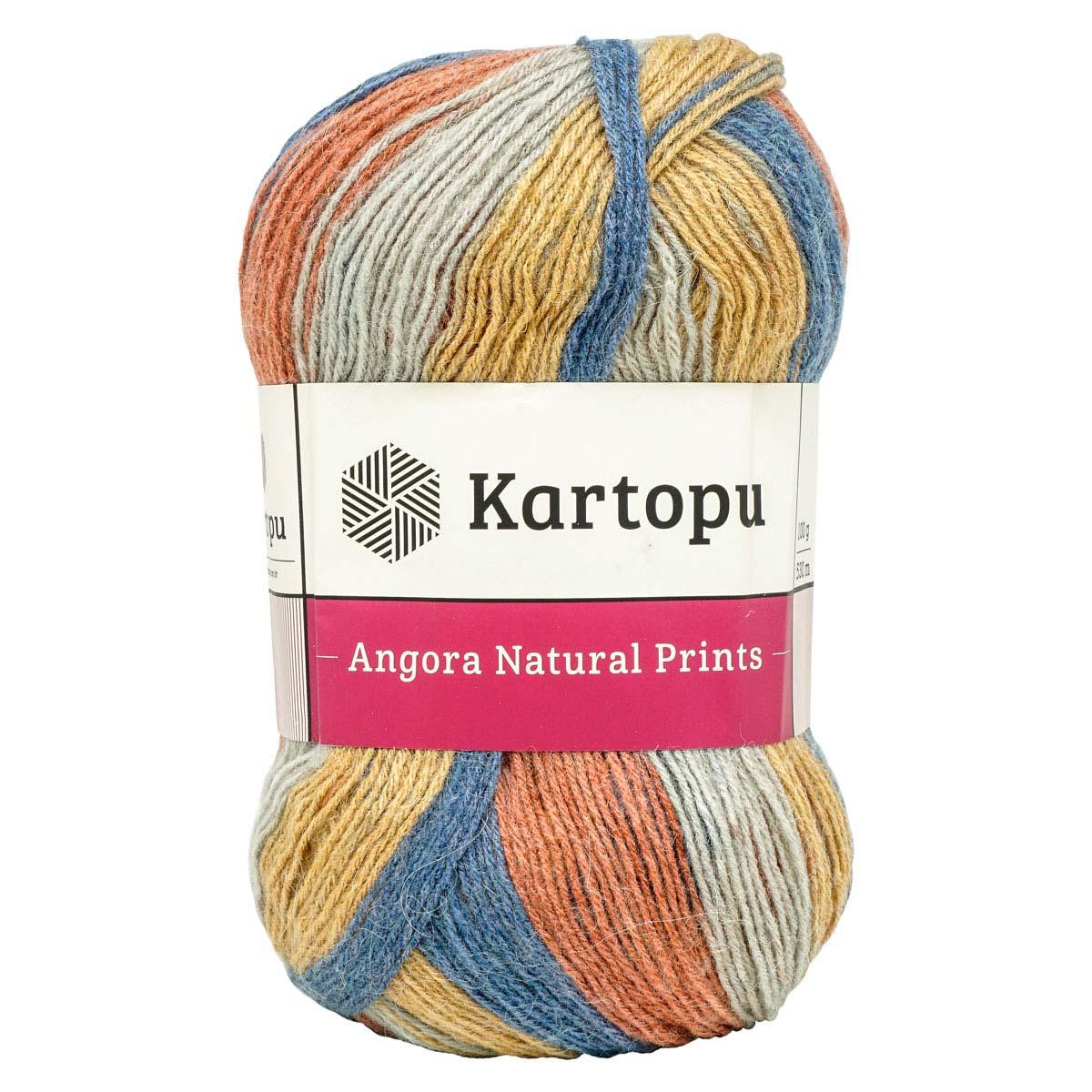 Пряжа KARTOPU 'ANGORA NATURAL PRINTS' 100г 530м (10% шерсть, 10% мохер, 80% акрил)