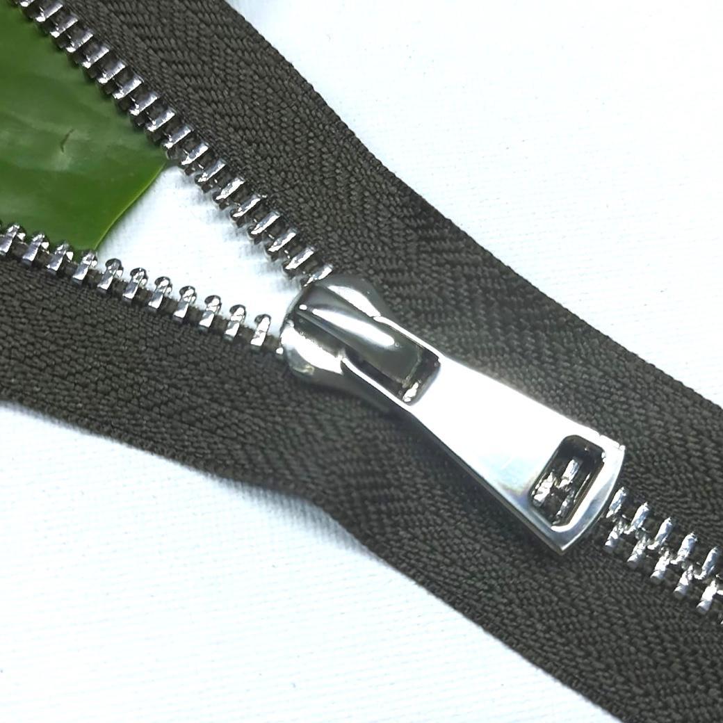 Молния металл №8ТТ никель разъём 65см D194 темный хаки, 2002001721098