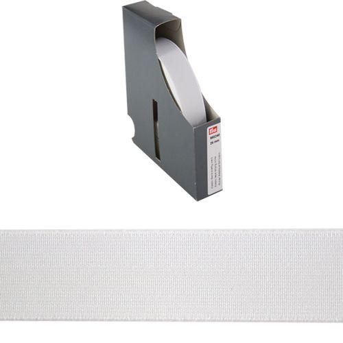 955240 Прочная эластичная лента 25 мм белый цв. *10м. Prym