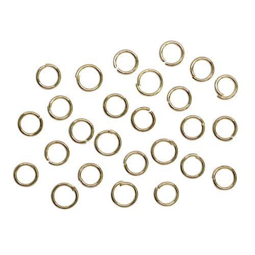 1515017(СМ-973 Кольцо соединительное 0,5*4мм (набор 50гр, ±1100 шт ), цвет золото