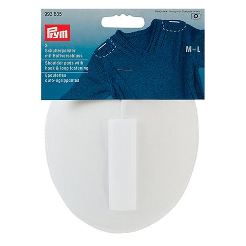 993835 Плечевые накладки с липучкой (M-L), реглан, белый, 115*150*11 мм, упак./5 пар, Prym