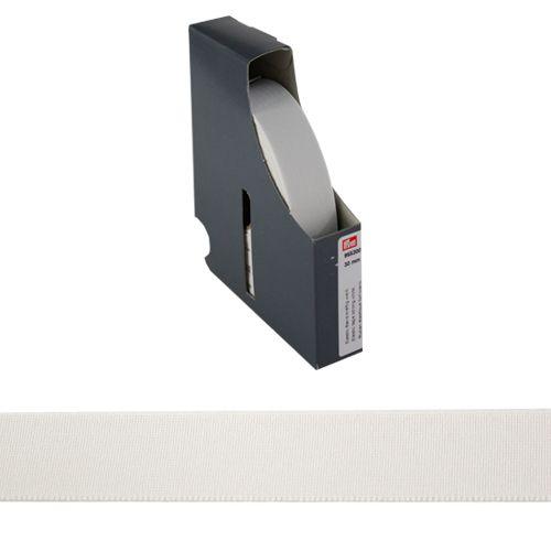 955300 Прочная эластичная лента 30 мм белый цв. *10м. Prym