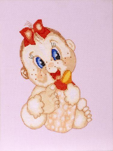 753 Набор для вышивания Hobby&Pro 'Малышка', 14*22 см