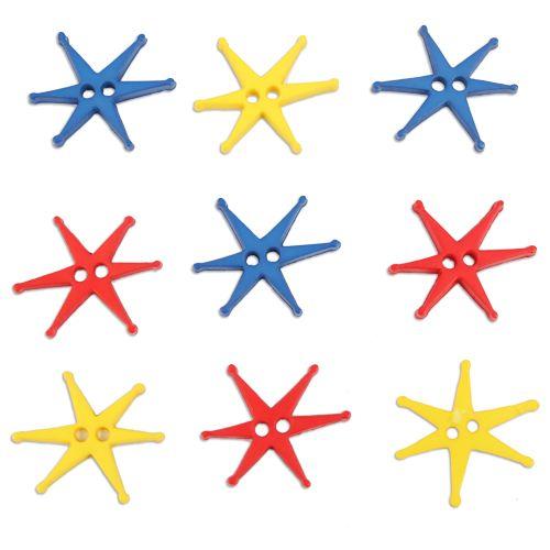 Пуговица, Звезды (I1553-W2) 6шт