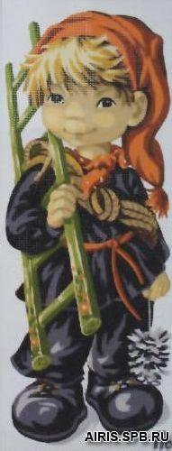 9880.0137.0087 Канва с рисунком Royal Paris 'Трубочист' 49*19 см