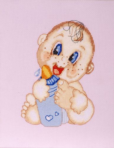 754 Набор для вышивания Hobby&Pro 'Малыш', 14*21 см