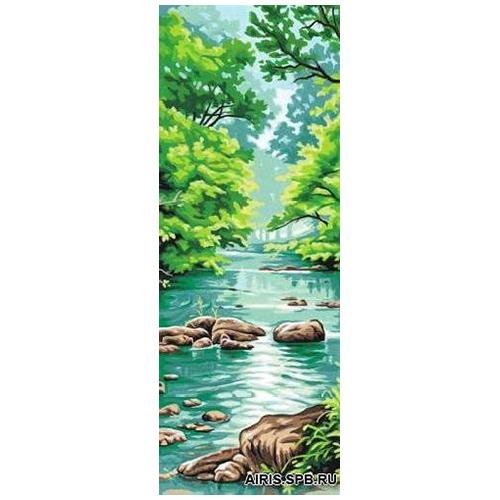 MRC62-170 Канва с рисунком MARGOT 'Речка' 25*60 см