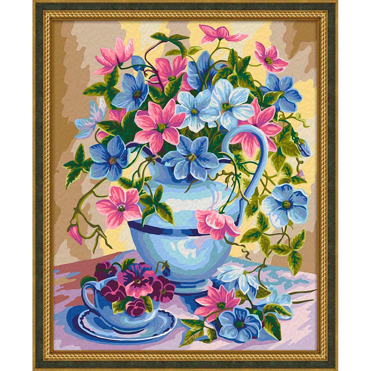 7С-0210 Картина по номерам 'Изящный букет'