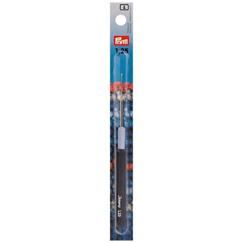 175321 Крючок для тонкой пряжи с пластиковой ручкой и колпачком, сталь, 1,25 мм, Prym