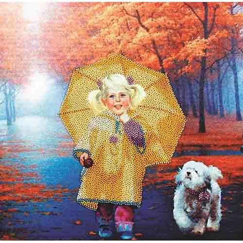 ВН1013 Набор для вышивания Alisena 'На прогулке' 30*30 см