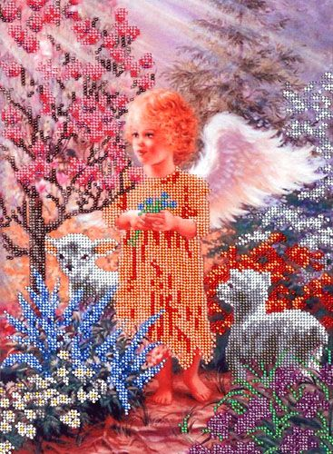 БН-3036 Набор для вышивания бисером Hobby&Pro 'В райском саду', 35*25 см
