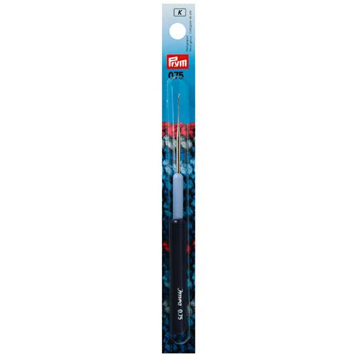 175325 Крючок для тонкой пряжи с пластиковой ручкой и колпачком, сталь, 0,75 мм, Prym