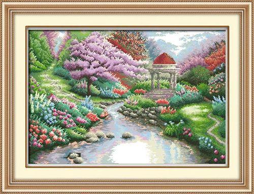 1312 Мозаика Cristal 'Беседка у реки', 73*50 см