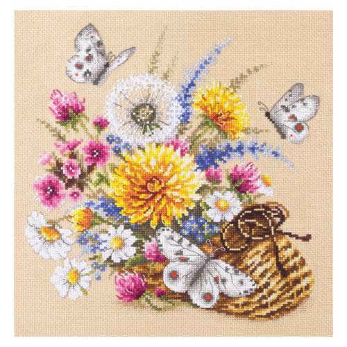 40-81 Набор для вышивания Чудесная игла 'Луговые цветы' 25*25см