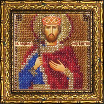225ПМИ Набор для вышивания бисером 'Вышивальная мозаика' Икона 'Св. Равноап. царь Константин', 6,5*6,5 см