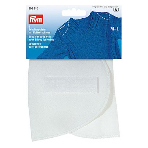 993815 Плечевые накладки с липучкой (M-L), полумесяц, белый, 160*115*15 мм, упак./ 5 пар, Prym