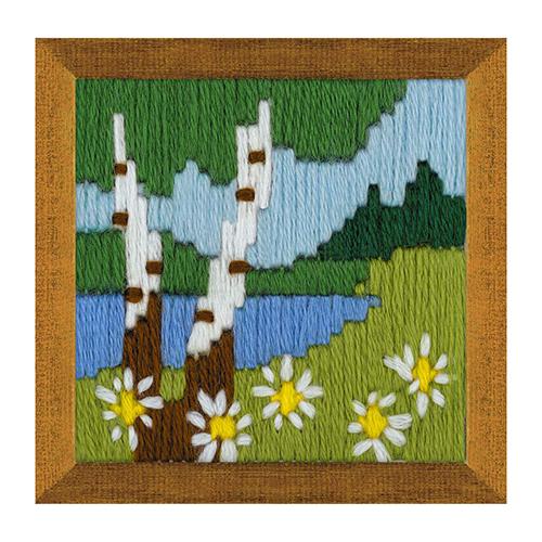 1651 Набор для вышивания Риолис 'Лесное озеро'6*6см