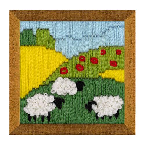 1652 Набор для вышивания Риолис 'Летний луг'6*6см