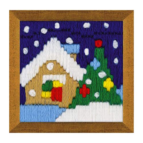 1653 Набор для вышивания Риолис 'Новогодний вечер'6*6см