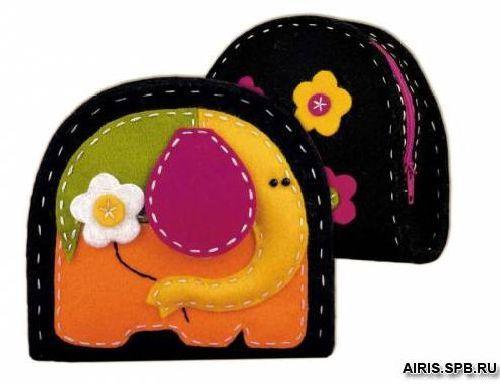 1338АС Набор для рукоделия Riolis кошелек/косметичка 'Слон', 11*10*4*4 см
