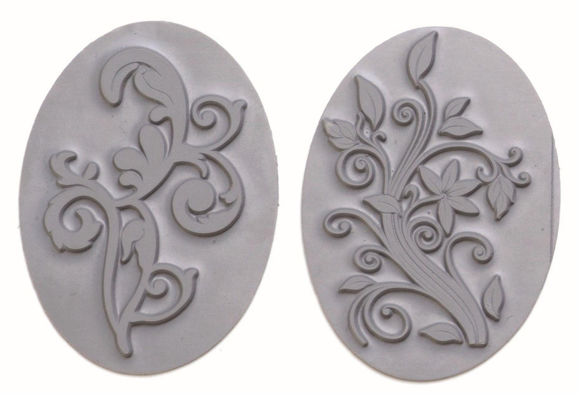 61600439 Вкладыш в овальную форму для мыловарения,орнамент,2шт. Glorex